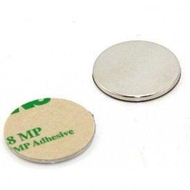 25mm dia x 2mm thick N42 Neodymium Adhesive Magnet - 3.5kg Pull ( North ) ( Pack of 2 )