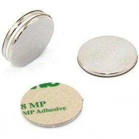 25mm dia x 2mm thick N42 Neodymium Adhesive Magnet - 3.5kg Pull ( North ) ( Pack of 40 )