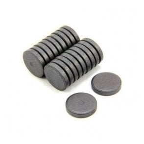 25mm dia x 5mm thick Y10 Ferrite Magnet - 0.6kg Pull