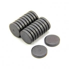 25mm dia x 5mm thick Y10 Ferrite Magnet - 0.6kg Pull (Pack of 20)