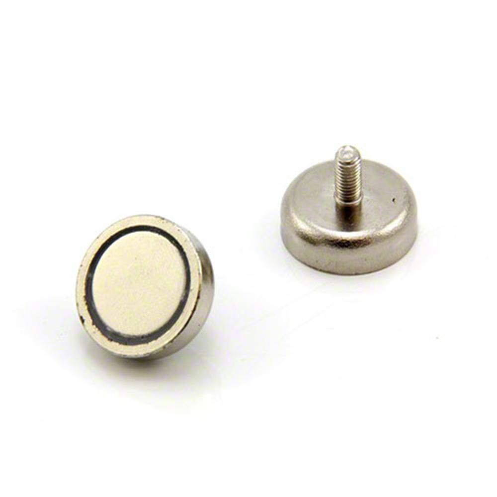 25mm dia x 8mm thick x m5 stud n42 neodymium pot magnet 20kg pull