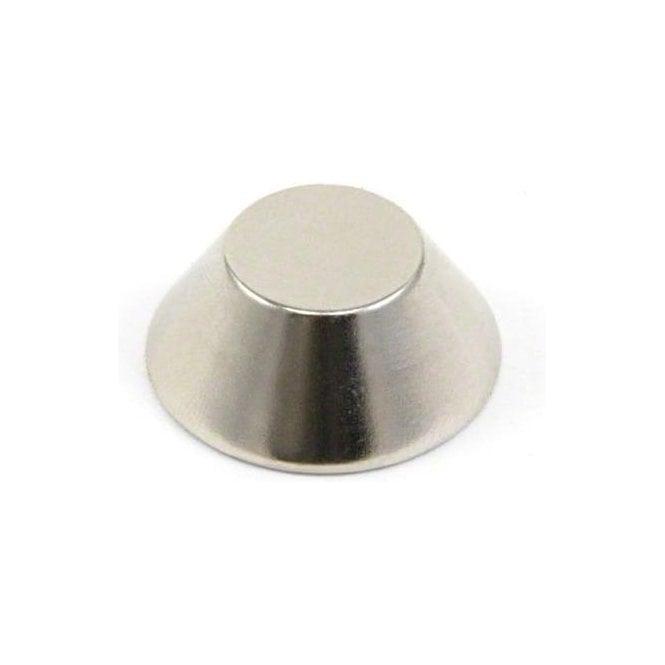 25mm O.D. x 13mm I.D. x 10mm thick N42 Neodymium Cone Magnet - 10.5kg Pull