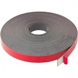25mm wide x 2.5mm thick Foam Adhesive Magnetic Tape - Polarity A ( 5m Length )