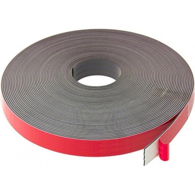 25mm x 2.5mm thick Magnetic Tape with Premium Foam Adhesive