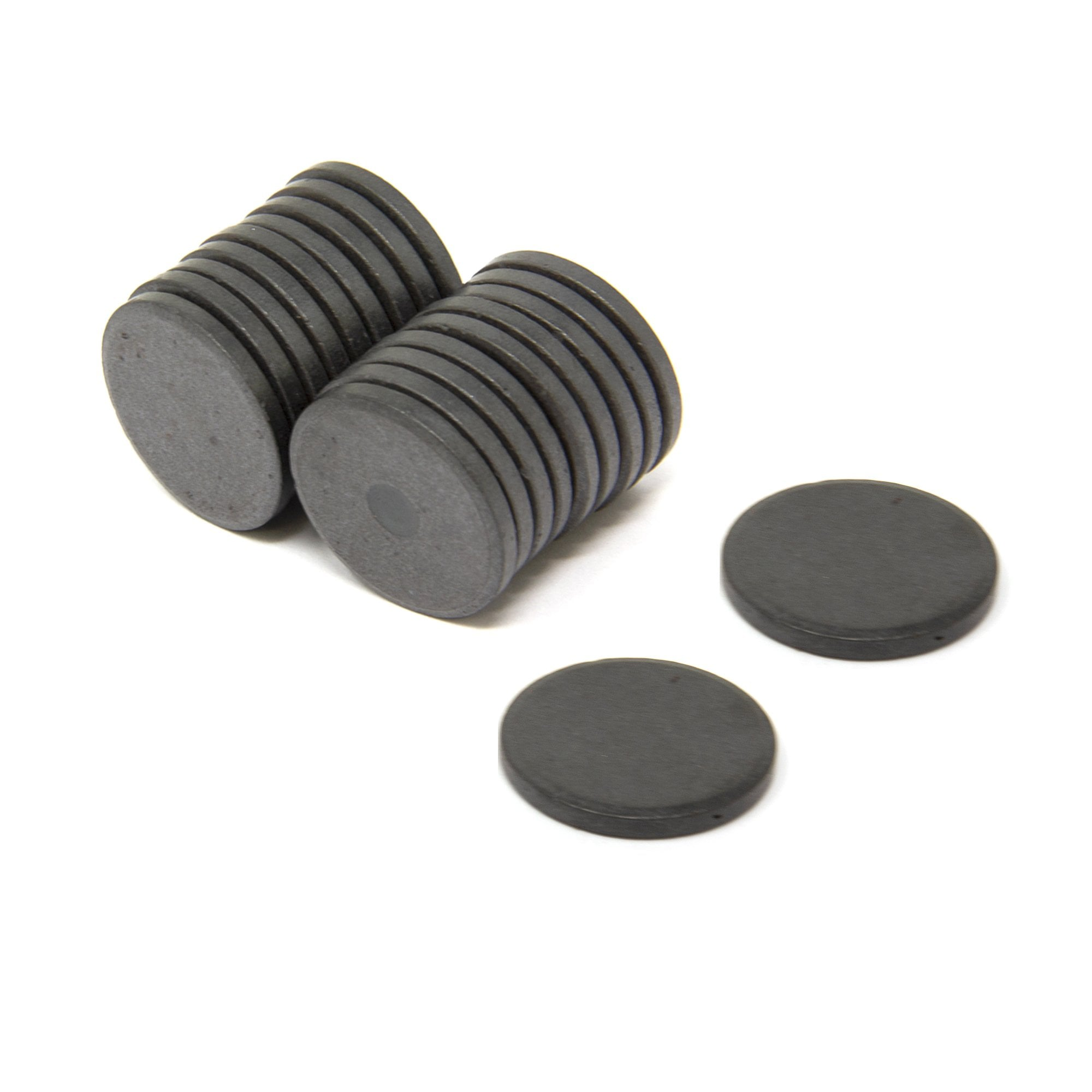 Magnet Expert/® 25mm x 3mm thick Y10 Ferrite Magnet Pack of 25 0.69kg Pull