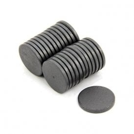 25mm x 3mm thick Y10 Ferrite Magnet - 0.69kg Pull (Pack of 500)