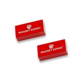 2x Alnico Rectangular Bar Magnets - 0.1kg Pull (10 x 5 x 20mm) (1 Set)