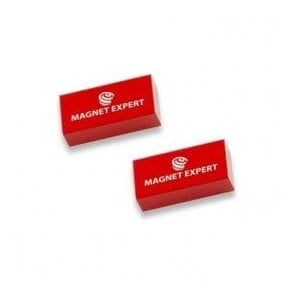 2x Alnico Rectangular Bar Magnets - 0.1kg Pull (10 x 5 x 20mm)