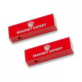 2x Alnico Rectangular Bar Magnets - 1.7kg Pull (15 x 10 x 50mm)