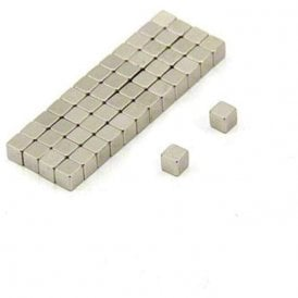 3 x 3 x 3mm thick N42 Neodymium Magnet - 0.38kg Pull ( Pack of 50 )
