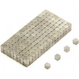 3 x 3 x 3mm thick N42 Neodymium Magnet - 0.38kg Pull (Pack of 500)