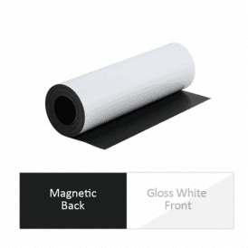 300mm wide x 0.85mm thick White Flexible Magnetic Sheet ( 2 x 5m Lengths )