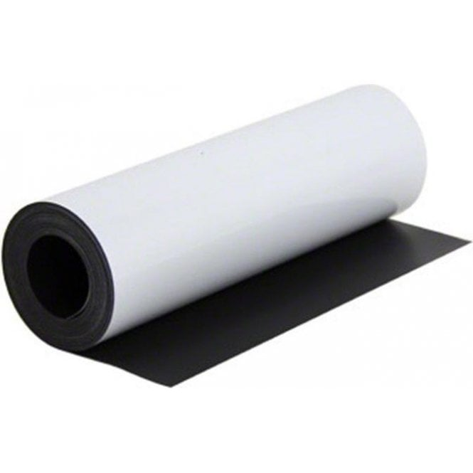 300mm x 0.85mm thick White Flexible Magnetic Sheet