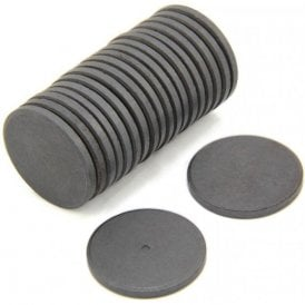 30mm dia x 3mm thick Y10 Ferrite Magnet - 0.9kg Pull (Pack of 20)