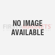 32mm dia Ferrite White Painted Clamping Magnet with M4 Hook  - 7.3kg Pull