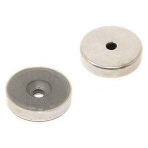 32mm dia x 7mm thick x 5mm c/sink Ferrite Y30BH Pot Magnet