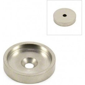 35mm dia Mild Steel Keeper Cup For Pot & Countersunk Magnet - Full Lip ( Pack of 10 )