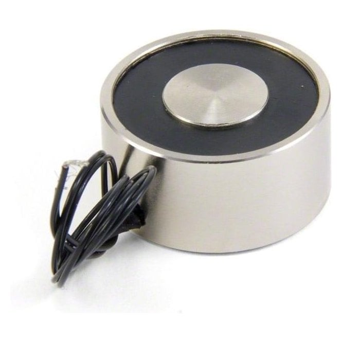 40mm dia x 20mm thick Electromagnet with M5 Mounting Hole - 25kg Pull (24V / 8W)