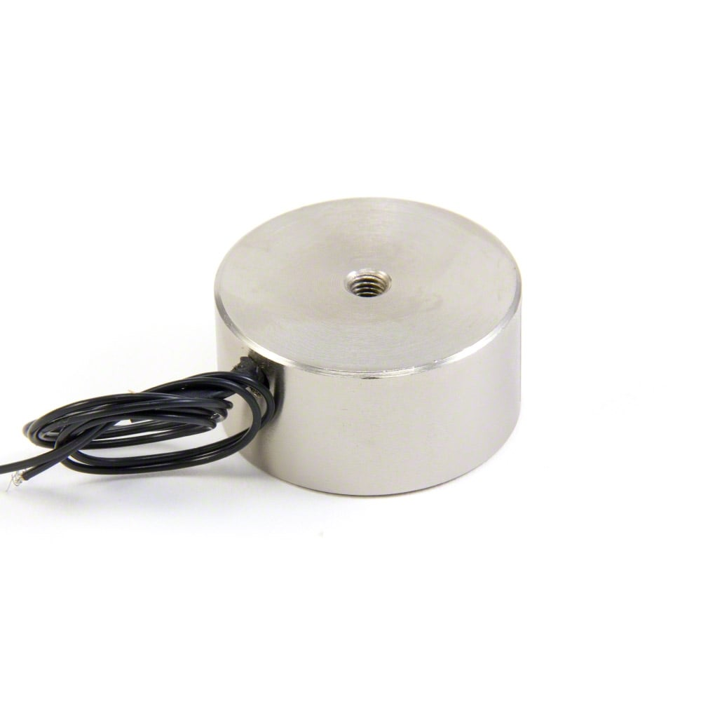 Pack of 5 8W // 0.33A Magnet Expert/® 40mm dia x 20mm thick Electromagnet with M5 Mounting Hole 25kg Pull