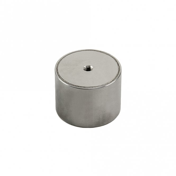 40mm dia x 30mm thick Stainless Steel Encased N42 Neodymium Magnet - 24kg Pull