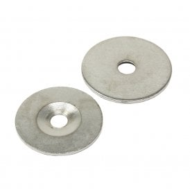 42mm dia x 2mm thick x 8.2mm c/sink Steel Disc (Pack of 100)