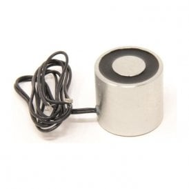 44.45mm dia x 41.275mm thick Electromagnet with 6mm Mounting Hole - 27kg Pull (12V DC / 3.3W)