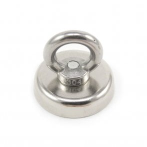 48mm dia Neodymium Clamping Magnet with M8 Eyebolt - 90kg Pull