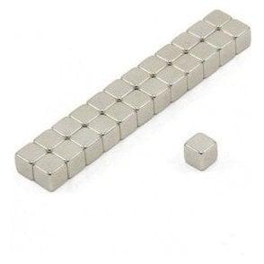 5 x 5 x 5mm thick N42 Neodymium Magnet - 1kg Pull