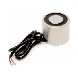 50.8mm dia x 41.275mm thick Electromagnet with 6mm Mounting Hole - 100kg Pull (12V DC / 5.2W)