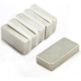 50 x 25 x 10mm thick N42 Neodymium Magnet - 32.2kg Pull (Pack of 6)