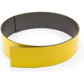 50mm wide x 1.5mm thick Magnetic Tape with Premium Self Adhesive - Polarity A ( 5m Length )