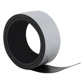 50mm x 0.76mm thick Flexible Magnetic Label Roll with gloss white dry wipe surface