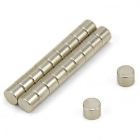 5mm dia x 4mm thick N35 Neodymium Magnet - 0.66kg Pull (Pack of 20)