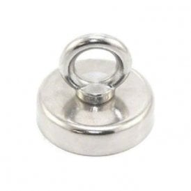 60mm dia N42 Neodymium Clamping Magnet with M8 Eyebolt - 139kg Pull