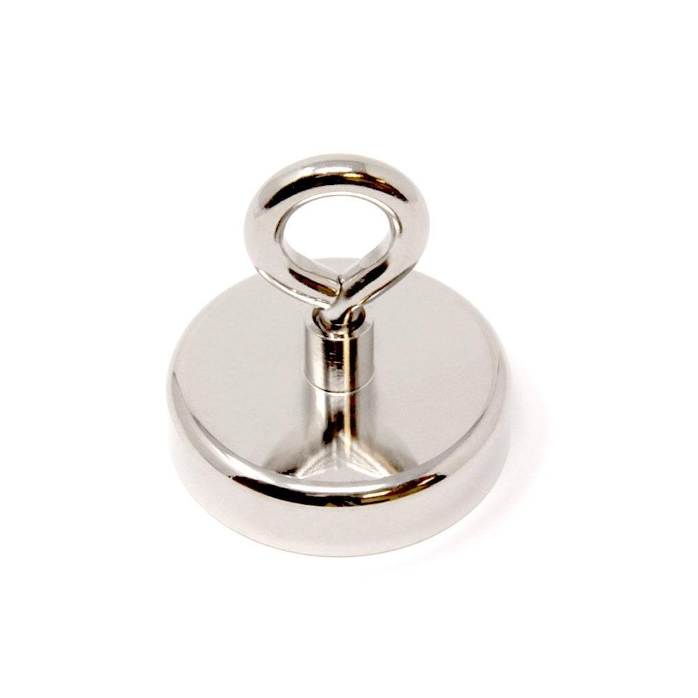 Pack of 10 Nickel Magnet Expert NPS25-10 25mm Dia Neodymium Pot Swivel Hook