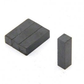 7 x 7 x 25mm thick Y30BH Ferrite Magnet - 0.28kg Pull (Pack of 40)