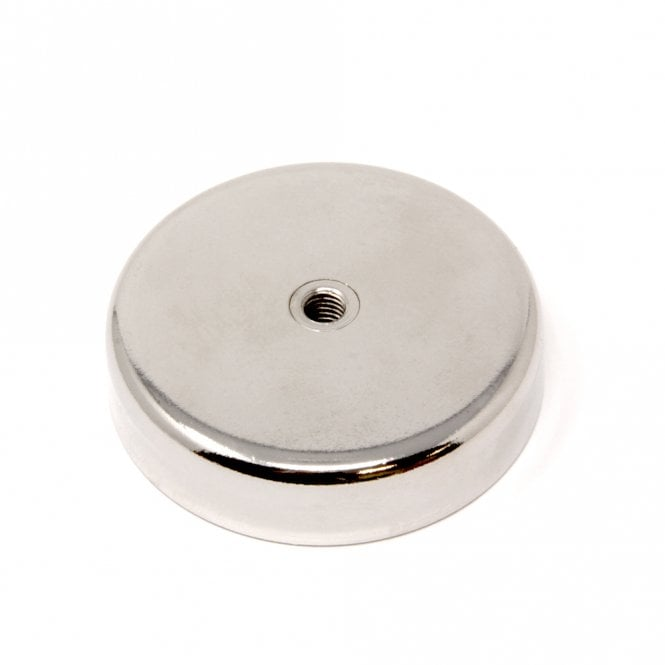 75mm dia N42 Neodymium Pot Magnet with M8 Internal Thread