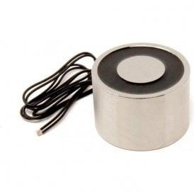 76.2mm dia x 50.8mm thick Electromagnet with 6mm Mounting Hole - 226kg Pull (12V DC / 12W) (Pack of 10)