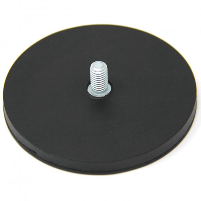 88mm dia x 8mm thick Rubber Coated POS Magnet c/w M8 x 15mm External Thread