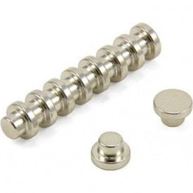 8mm dia x 5mm thick N42 Neodymium Top Hat Magnet - 1kg Pull  ( Pack of 100 )