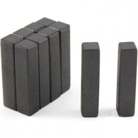 9 x 9 x 39mm thick Y10 Ferrite Magnets - 0.16kg Pull (Pack of 10) (discoloured)