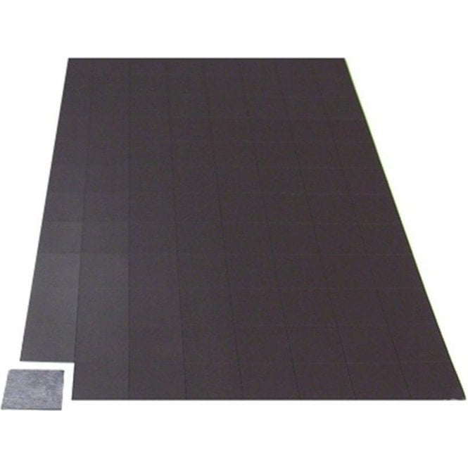 A4 Sheet of 96 Self Adhesive Magnetic Squares ( 25mm x 25mm x 0.76mm ) ( Pack of 20 )