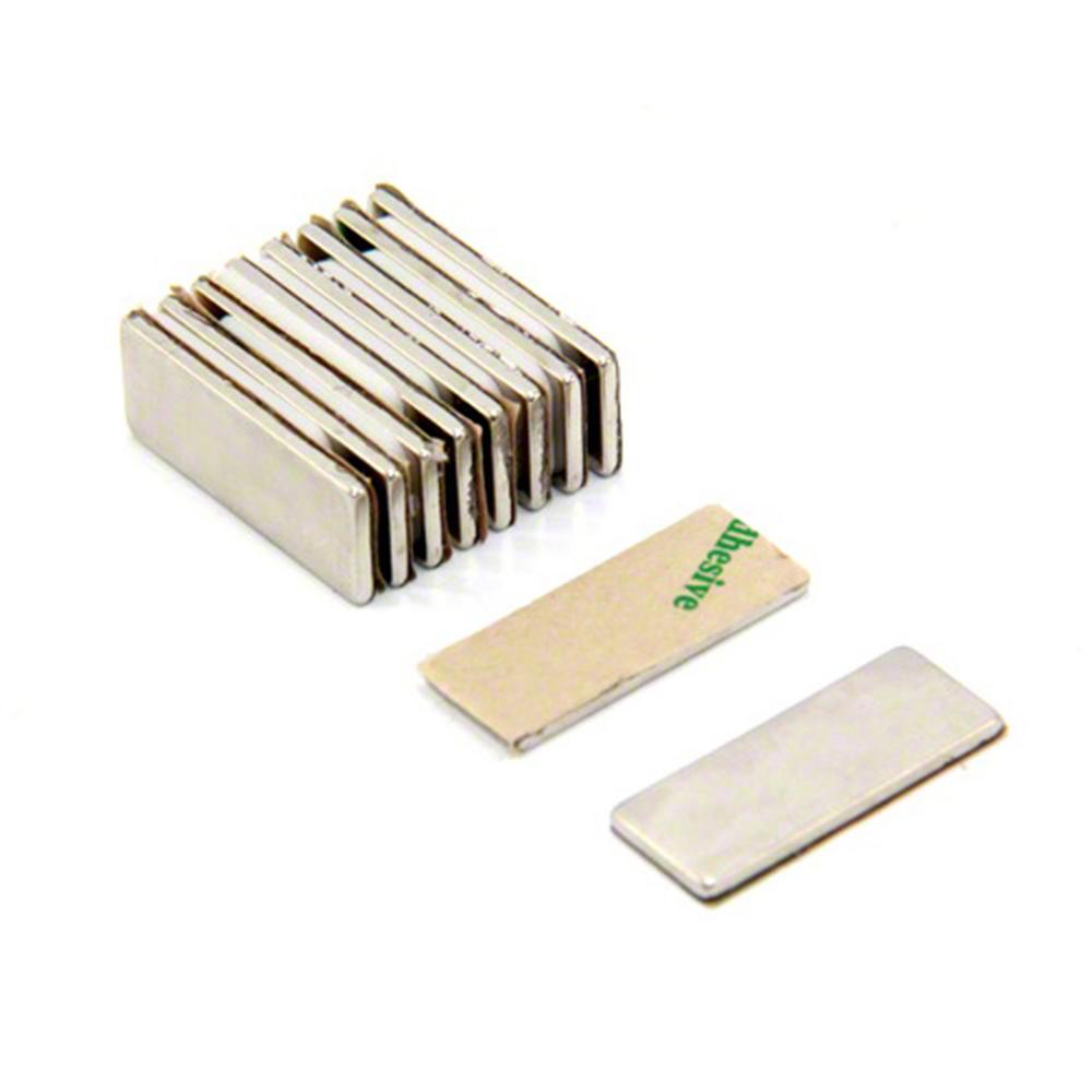 Adhesive 25 X 10 X 1 5mm Thick N42 Neodymium Magnet 1