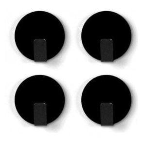 Anti-Slip Solid Steel Magnetic Hooks - Black