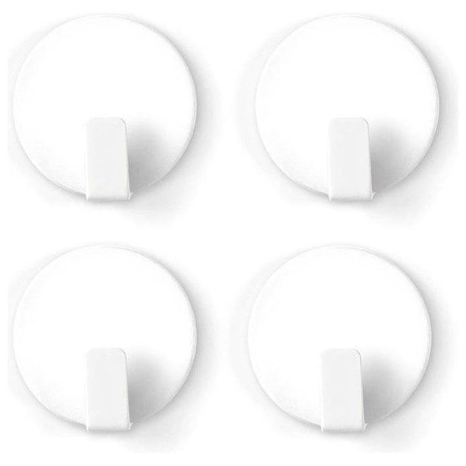 Anti-Slip Solid Steel Magnetic Hooks - White