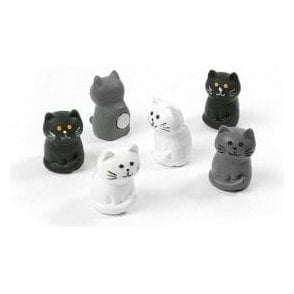 Assorted Animal Style Office Magnets - Cats (1 set of 6)