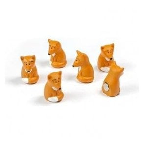 Assorted Animal Style Office Magnets - Fox (1 set of 6)