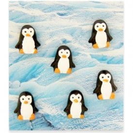 Assorted Animal Style Office Magnets - Penguin (1 set of 6)