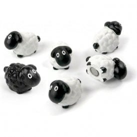Assorted Animal Style Office Magnets - Sheep (1 set of 6)
