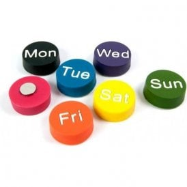 Magnets WEEKDAYS, Set of 7, Assorted